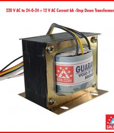 220 V AC to 24-0-24+12 V AC Current 6A -Step Down Transformer(143)