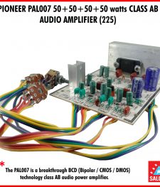 PIONEER PAL007 50+50+50+50 watts CLASS AB Audio amp.  (225)