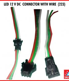 LED 12 V DC  CONNECTOR WITH WIRE  (223)