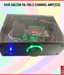 4440 SALCON PA-100-2 CHANNEL AMP (233)