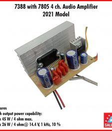 7388 with 7805 4 ch. Audio Amplifier 2021 Model (254)