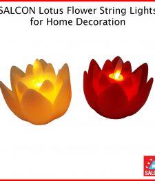 SALCON INDOOR,OUTDOOR Flickering Lotus Electronic Candle Light (278)