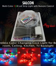 SALCON  indoor Multi-Color RGB Led Strip Light with Remote Control (271)