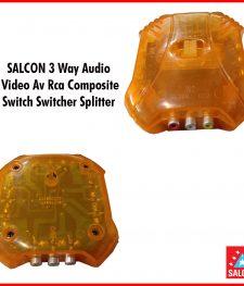 SALCON 3 Way Audio  Video Av Rca Composite  Switch Switcher Splitter (283)
