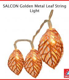 SALCON Golden Metal Leaf String Light outdoor / indoor (277)