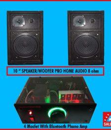 4 mosfet phono amp with (Bluetooth),100+100 watt stereo speaker (281)
